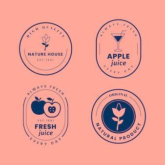 2色のコンセプトで最小限のロゴコレクション