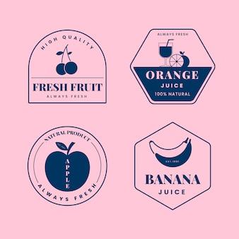 2色デザインの最小限のロゴコレクション