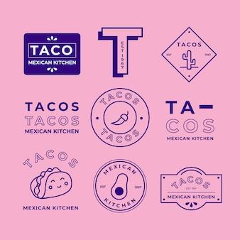 2色スタイルの最小限のロゴコレクション