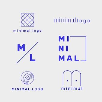 2色の最小限のロゴセットテンプレート