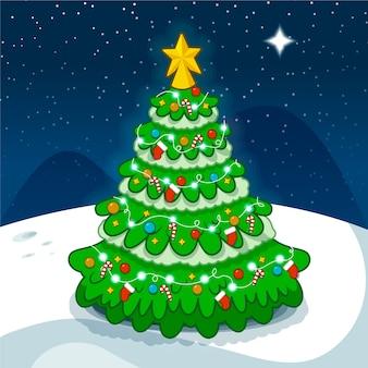Красивая 2-ая рождественская елка