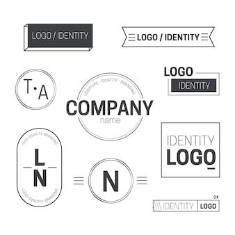 2色で設定された最小限のロゴ要素