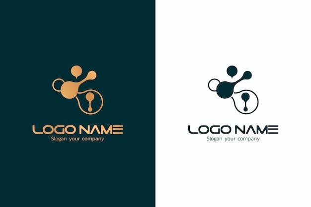 2つのバージョンのデザインで抽象的なロゴ