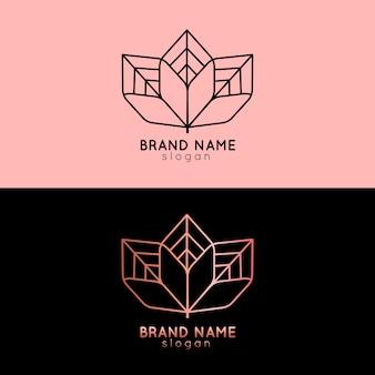 2つのバージョンのテンプレートの抽象的なロゴ