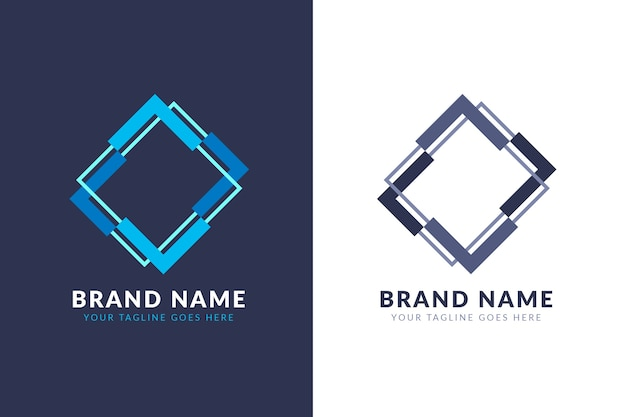 2つのバージョンの概念の抽象的なロゴ