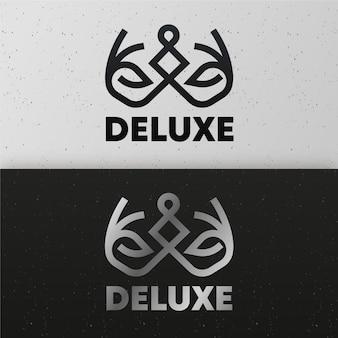 2つのバージョンのコンセプトで抽象的なロゴ