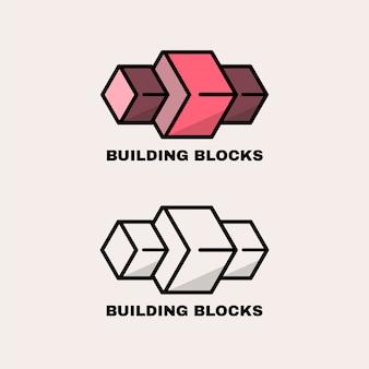 2つのバージョンのロゴの抽象的なデザイン