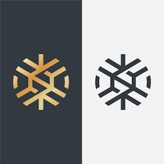 2つのバージョンの高級ロゴ