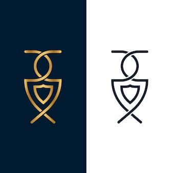 2つのバージョンのコンセプトのロゴ