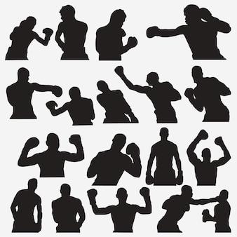 ボクシング2のシルエット