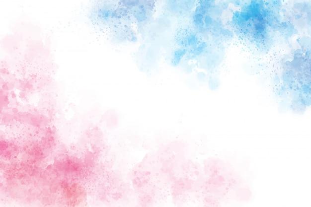 2トーンブルーとピンクの水彩ウォッシュスプラッシュバックグラウンド