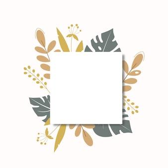ソーシャルメディアの投稿シンプルな花フラットイラスト集2