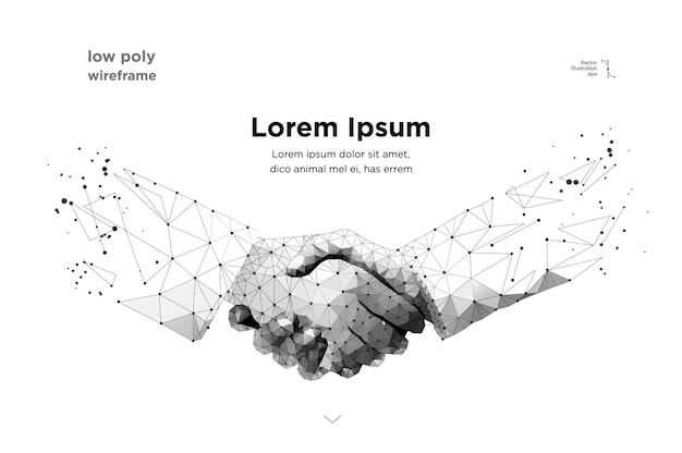 抽象的な2つの手握手