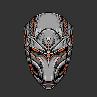 Солдатская маска 2 векторные иллюстрации