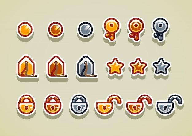 2d аркадные предметы для видеоигр. набор 2.