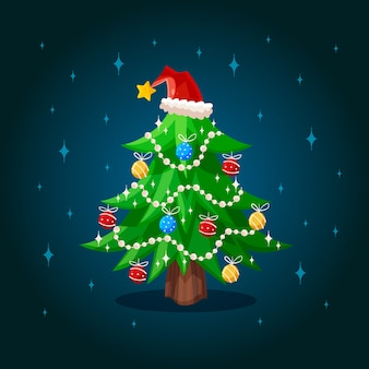 2d background christmas tree