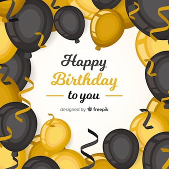 2d birthday with balloons background