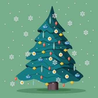 2d christmas tree concept