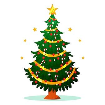 2d концепция рождественской елки