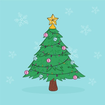 2d christmas tree illustration