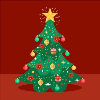 2dクリスマスツリーのイラスト