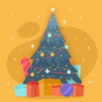 2d christmas tree template
