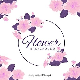 2d floral background