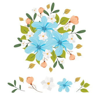 2d flowers bouquet collection illustration