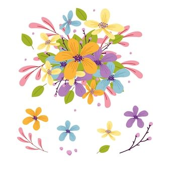 2d коллекция букетов цветов