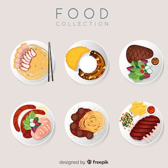 2d food dish collection