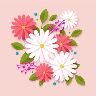 2d градиентная бумага в стиле цветы