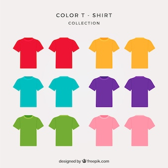 2d t-shirt collection in different colors