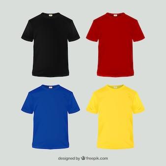 異なる色の2d tシャツコレクション