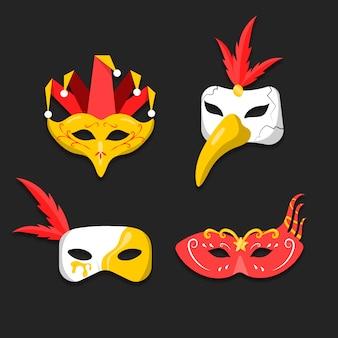 Pacchetto maschere carnevale veneziane 2d