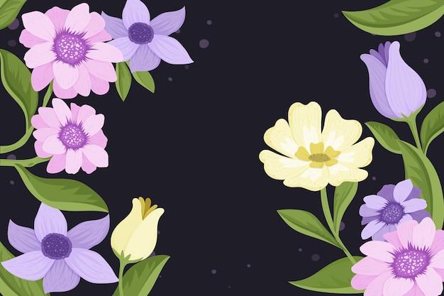 2d vintage floral wallpaper