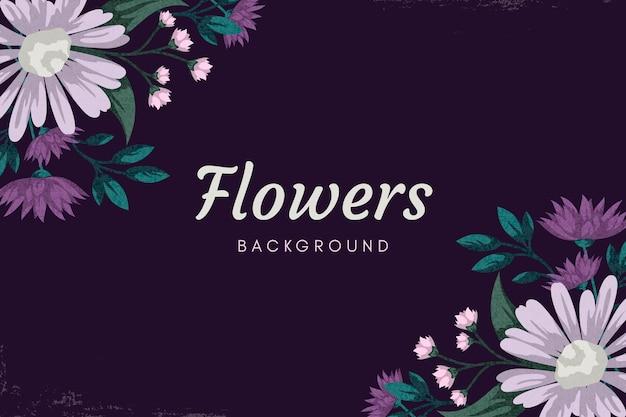 2d vintage flowers screensaver