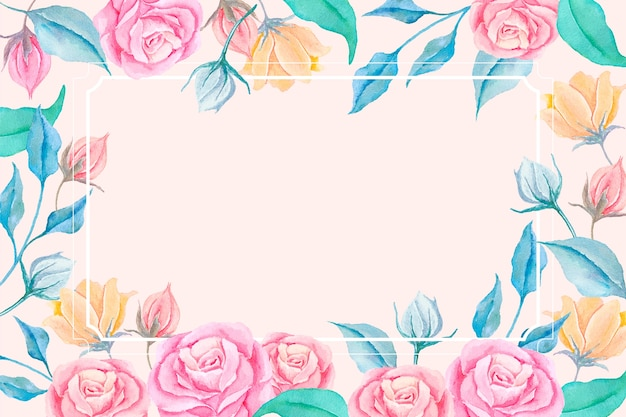 2d vintage flowers wallpaper