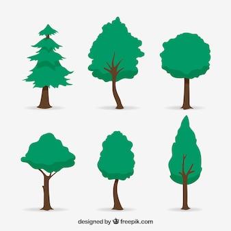 Пакет деревьев в стиле 2d
