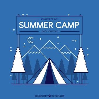 Летний лагерь в стиле 2d
