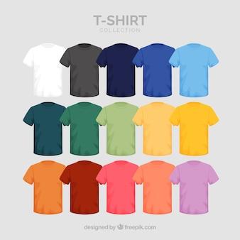 2d коллекция футболок разных цветов
