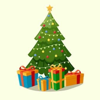 2d効果のクリスマスツリーの概念