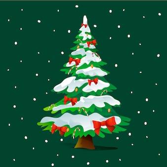 Рождественская елка с 2d эффектом