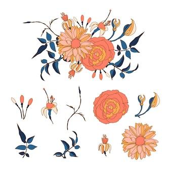 Красивый 2d цветочный букет