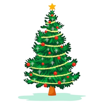 2dのクリスマスツリー