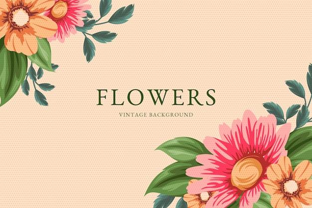 2d винтажная заставка с цветами