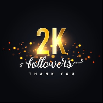 2k followers design