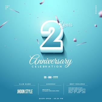 2nd anniversary party invitation background