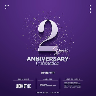 2nd anniversary party invitation with date and club name