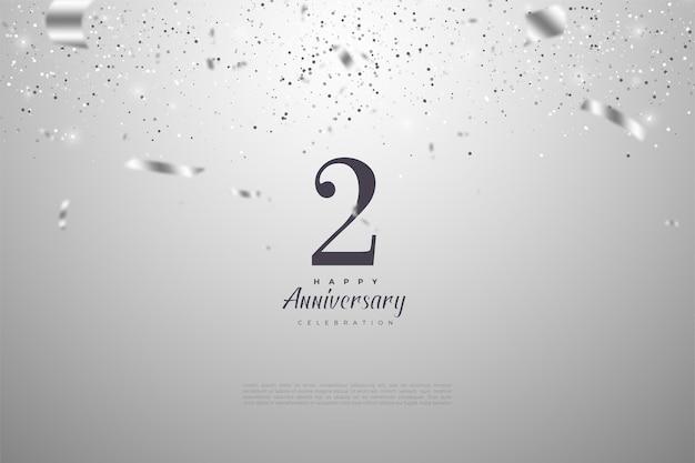 シルバーリボンのイラストが数字を落とした2周年。