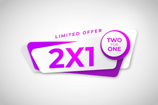 2x1 promotion banner